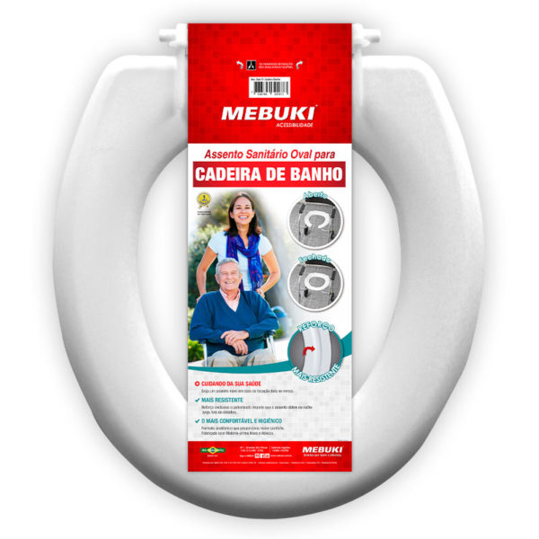 Assento Sanitário Oval para cadeira de banho Fechado